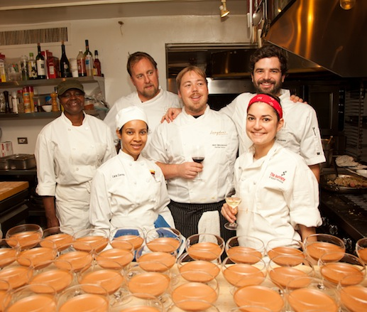 Patrick Owens and his team at the James Beard House