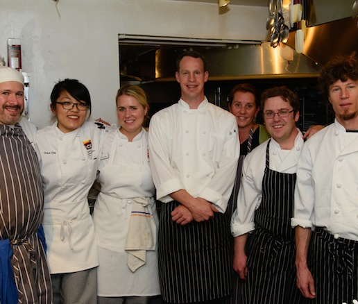 Jacob Leatherman and his team at the James Beard House
