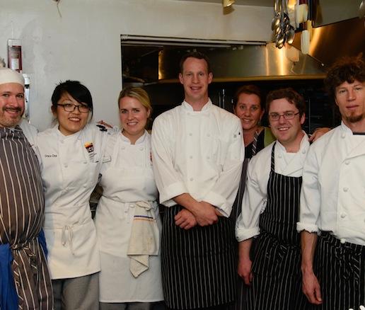 Jacob Leatherman and his team at the James Beard House