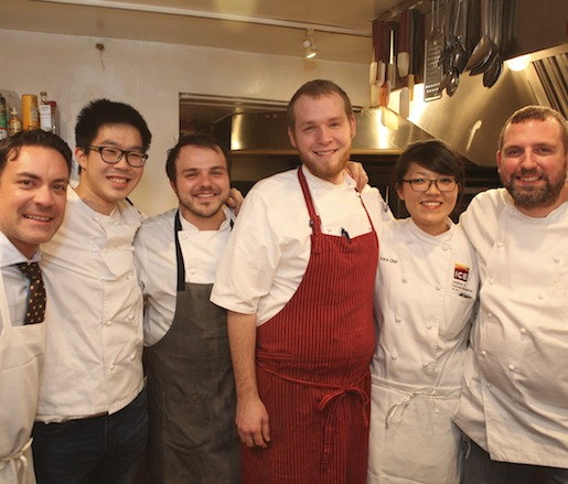 Brandon Frohne and his team at the James Beard House