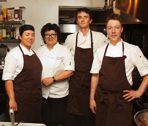 Alla Wolf-Tasker and her team at the James Beard House