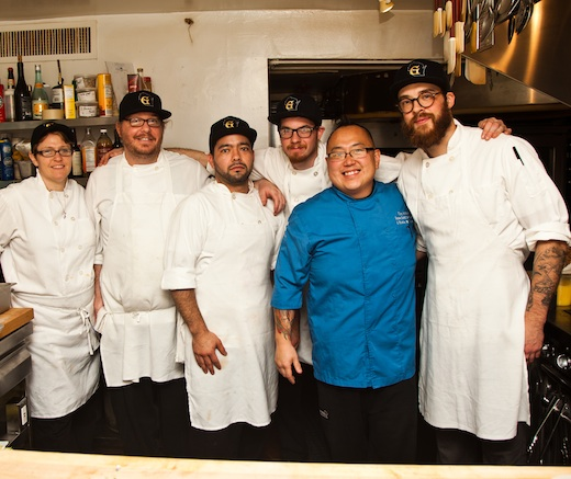 Chef Tory Miller and his team at the James Beard House