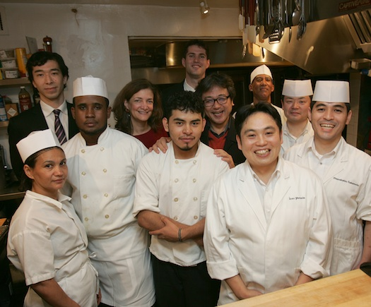 Chef Isao Yamada and his team at the James Beard House