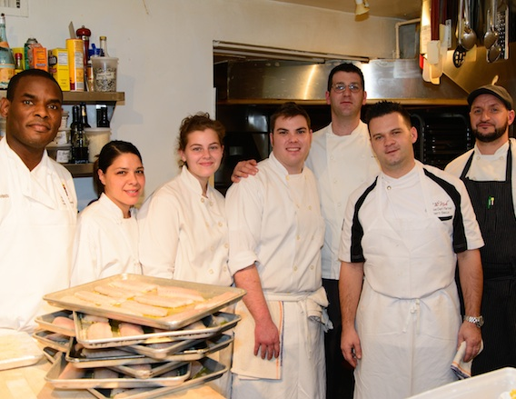Chef Robert Sisca and his team at the James Beard House