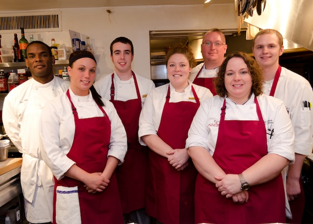 Kristin Butterworth with her team at the James Beard House Kitchen