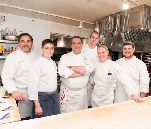 Peter Sclafani and his culinary team at the Beard House