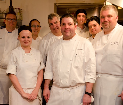 Christopher DeLuna and his team at the Beard House
