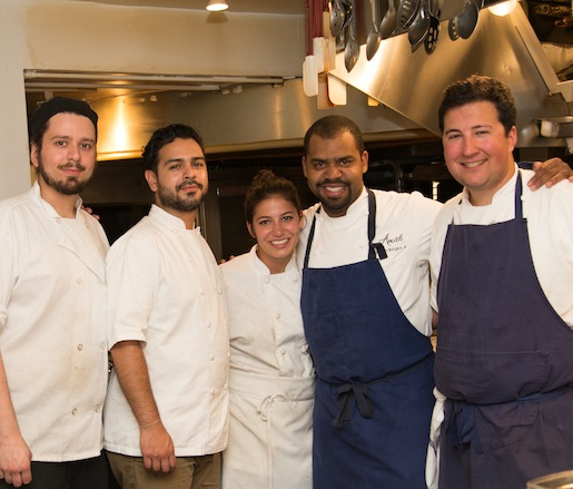 Chef Nilton Borges, Jr. and his team at the Beard House