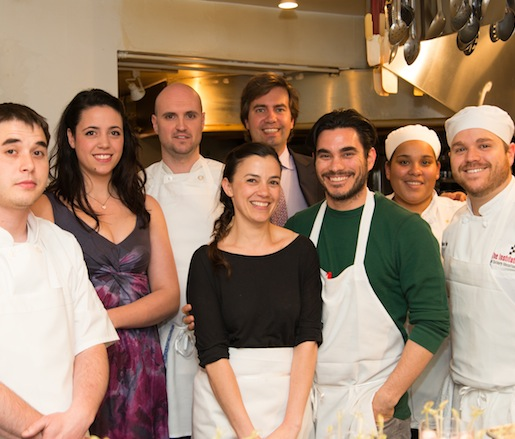 Chef Nemo Bolin and his team at the Beard House