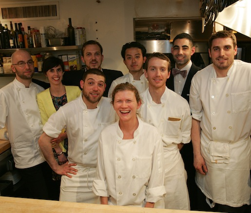 Chef Vernick and members of his team at the Beard House