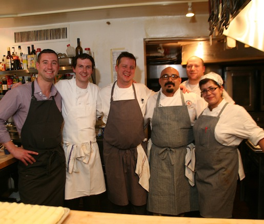 Matthew Gaudet and his team at the Beard House