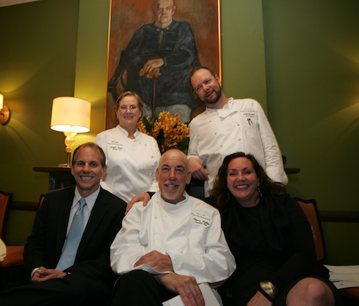 Steve Litke, Joe Bartolomei, and Catherine Bartolomei along with their teams at the Beard House