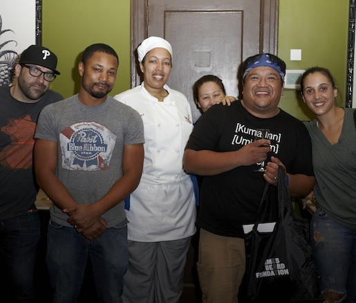 Leah Cohen and King Phojanakong with their teams at the Beard House