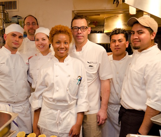 John Tesar and his team at the Beard House