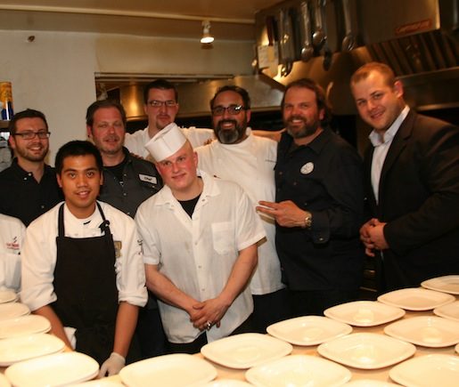Frank Castronovo, Frank Falcinelli, Maximilian Quattrone, and Ryan Bartlow with their team at the Beard House