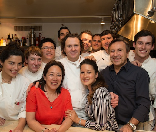 Eddy Leroux with his team and Tama Matsuoka Wong at the Beard House