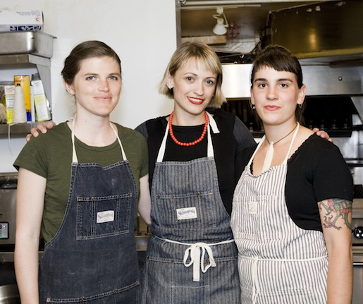Erin French and her team at the James Beard house