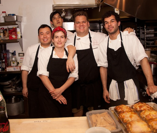 Harold Moore, Heather Bortnem and their team at the James Beard house