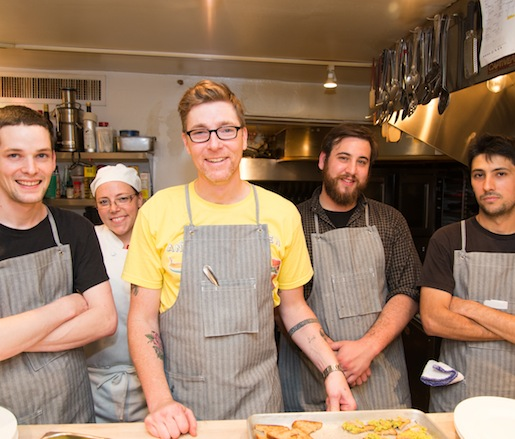 Jason Barwikowski and his team at the Beard House