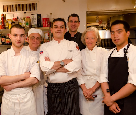 Christophe Bonnegrace and his team at the Beard House