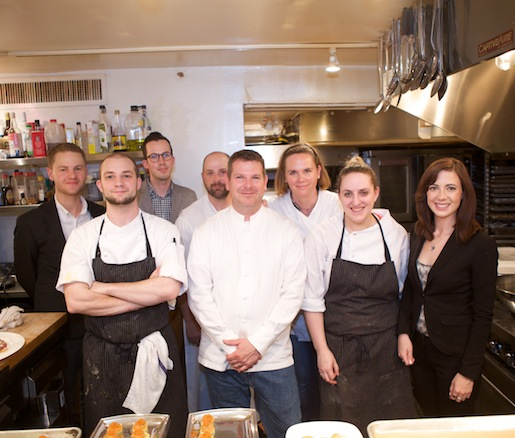 Allen Routt and Jessica Bagley with their team at the Beard House
