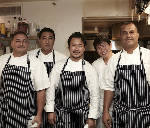 Makoto Okuwa and his team at the Beard House