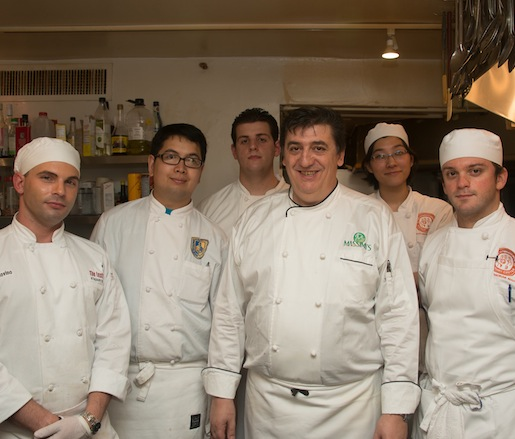 Massimo Patano  and his team at the James Bears house