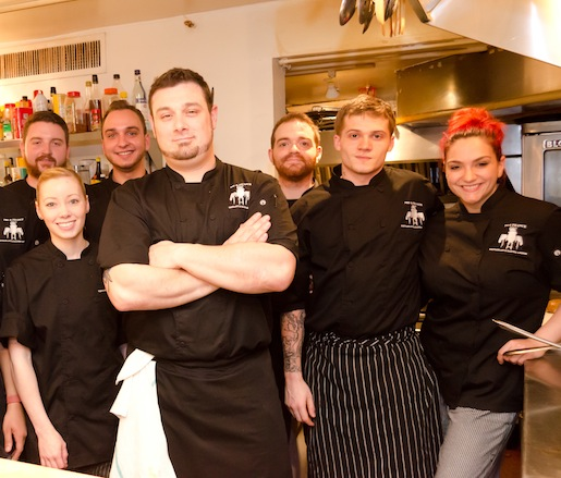 Michael Carrino and his team at the Beard House