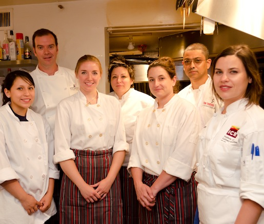 Chris Siversen and Elizabeth Katz at the Beard House with their team