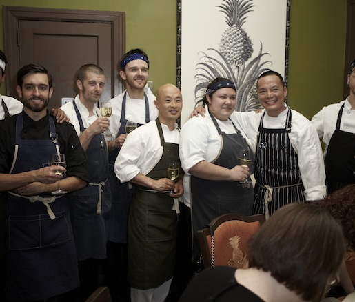 Edward Kim and his team at the Beard House