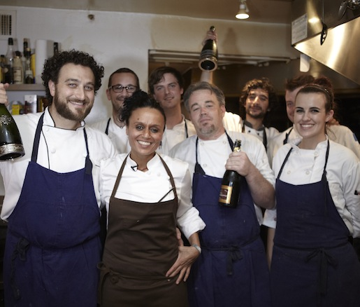 Najat Kaanache and her team at the James Beard house