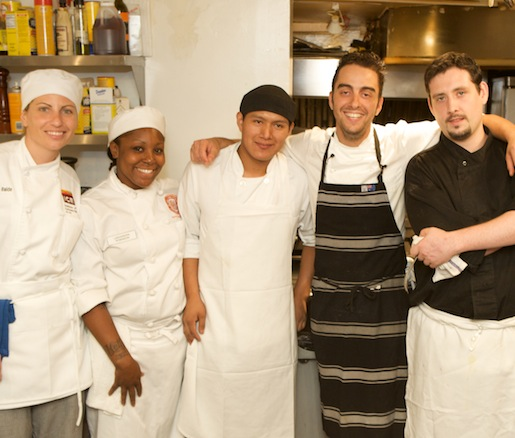 Manuel Berganza and his team at the Beard House