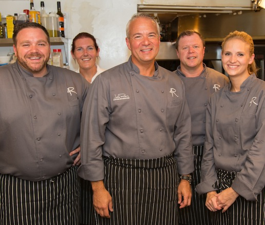 John Rivers and his team at the Beard House