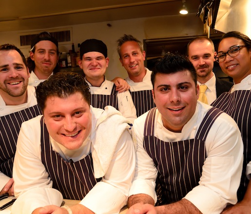 Anthony Lombardo and his team at the James Beard house.