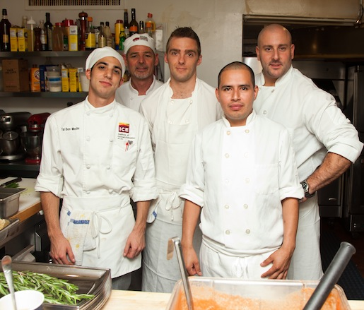 Carmine Di Giovanni and his team at the Beard House