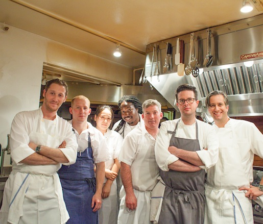 Matthew Rudofker, Paul Carmichael, Sean Heller, Sean Gray, Jordan Frosolone and their team at the Beard House