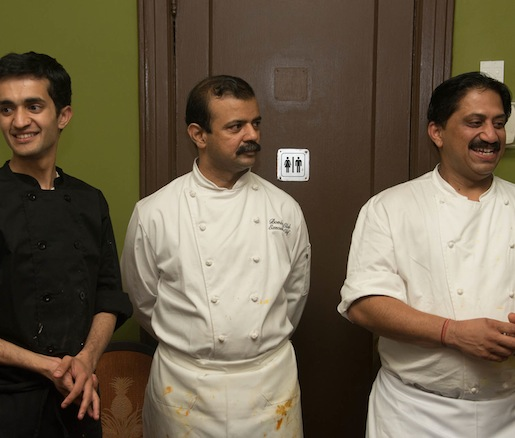 Vikram Sunderam and his team at the James Beard House