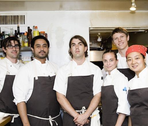 Owen Clark and his team at the Beard House