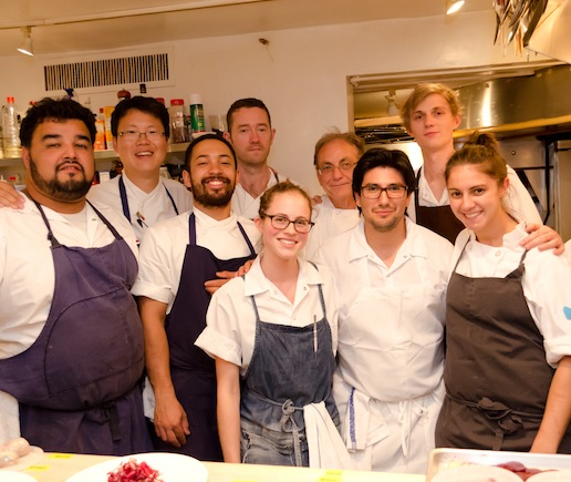 Alex Crabb and his team at the James Beard House