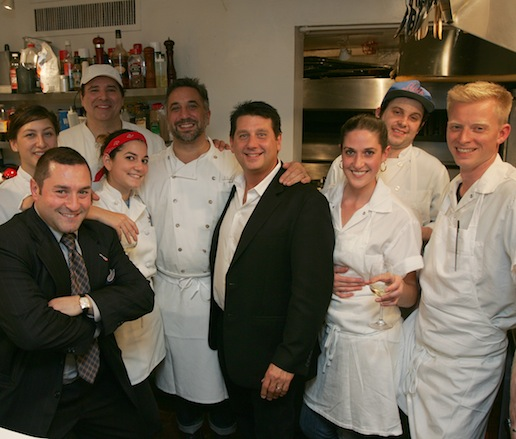 Marc Canora and his team at the James Beard House