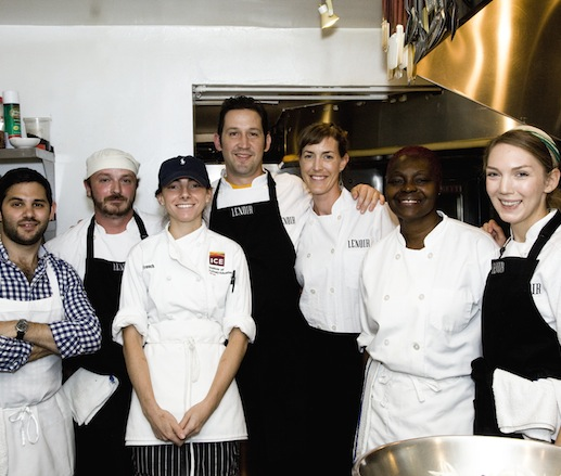 Jessica Maher and Todd Duplechan with their team at the James Beard House