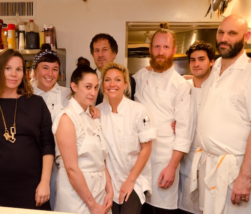 Brian Leth and his team at the James Beard House
