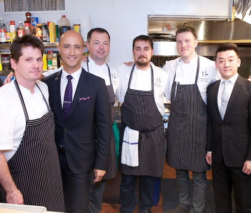 David Hawksworth and his team at the James Beard Foundation