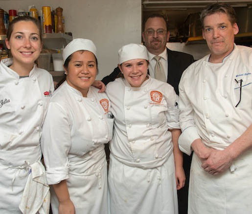 Michael Stanton and his team at the James Beard House