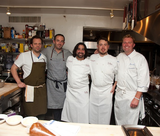 Juan Carlos Gonzalez and his team at the James Beard House