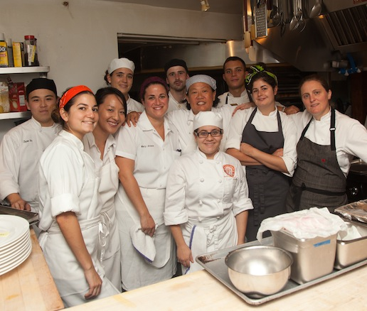 April Bloomfield, Anita Lo, and their team at the James Beard House