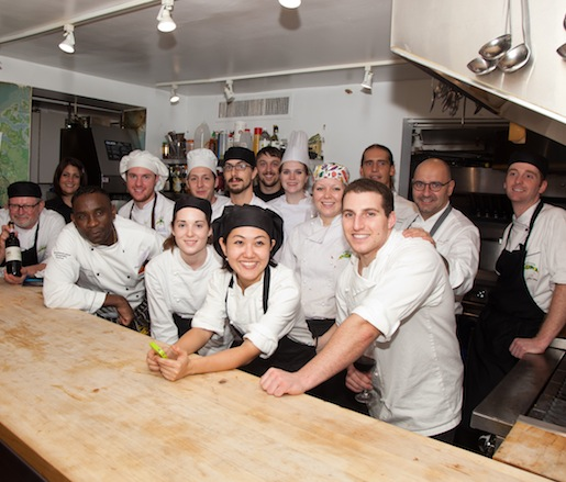 Event chefs in the Beard House kitchen