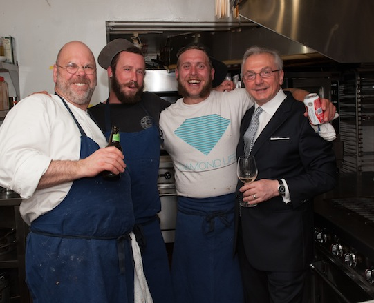 Staffan Terje and his team at the James Beard House
