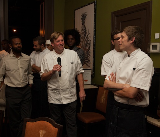 Spike Gjerde and his team at the James Beard House
