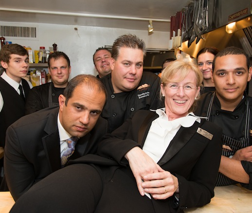Timothy Fischer, Robby Younes, Susanne Lerescu, John Benjamin, and their team at the James Beard House